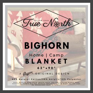 Follow Your True North Bighorn Blanket