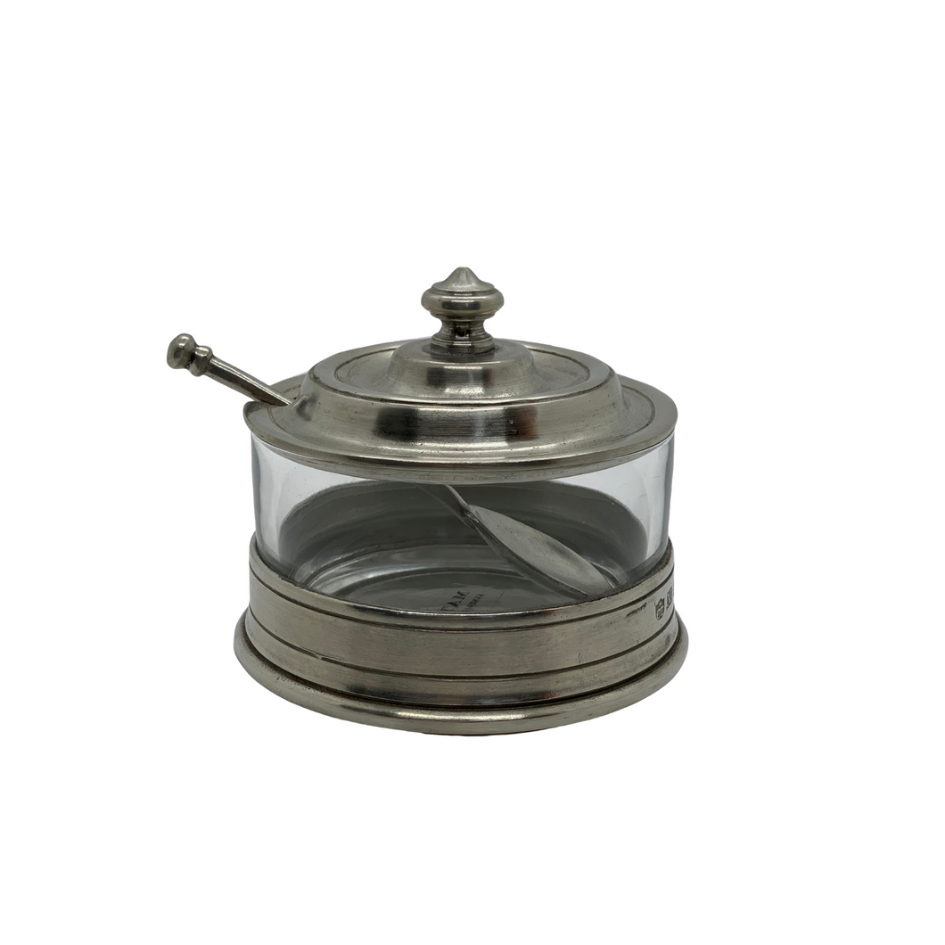 Pewter Jam Pot w/ Spoon by Match