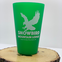 Load image into Gallery viewer, snowbird sili pint cup green
