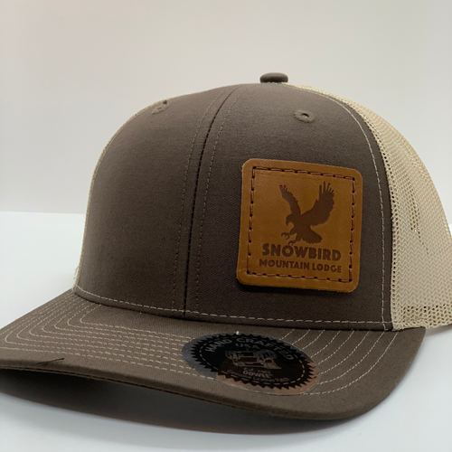 Snowbird Leather Patch Hats - SML Eagle Khaki
