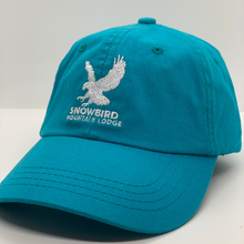Load image into Gallery viewer, Snowbird Logo Hats Turquoise