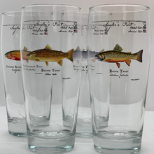 Load image into Gallery viewer, Angler Pint Glass Brown Trout 2