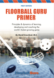 Book filled with information about Floorball, how to teach it, and play it.