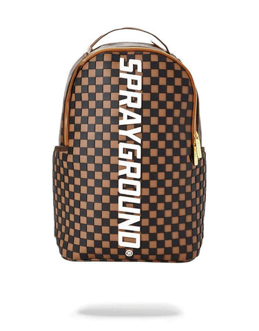 SPRAYGROUND BACKPACK 3D MOLDED RUBBER CHECKERED LOGO