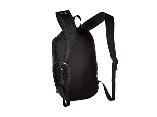 Under Armour Unisex Roland Backpack, Black (001)/Silver, One Size Fits All - backpacks4less.com