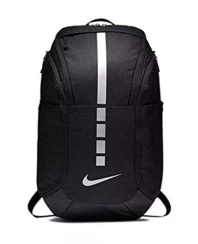Nike Hoops Elite Pro Backpack BLACK/BLACK/MTLC COOL GREY - backpacks4less.com
