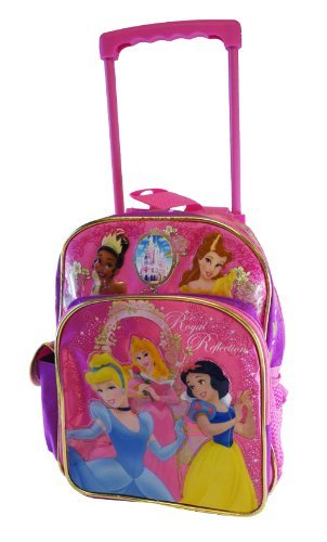 Disney Princess Small Rolling BackPack - Princesses Small Rolling School Bag - backpacks4less.com