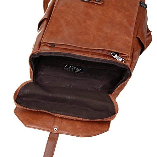 Zebella Women Leather Backpack Purse Fashion PU Causal Daypack School College Bookbag Laptop Bags - backpacks4less.com