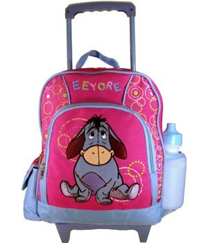 Disney EEYORE kids size rolling backpack with luggage wheels - backpacks4less.com