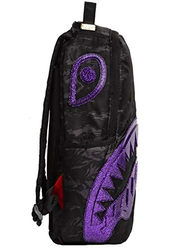 Sprayground Glitter Shark Camouflage Backpack Multicolor, One Size - backpacks4less.com