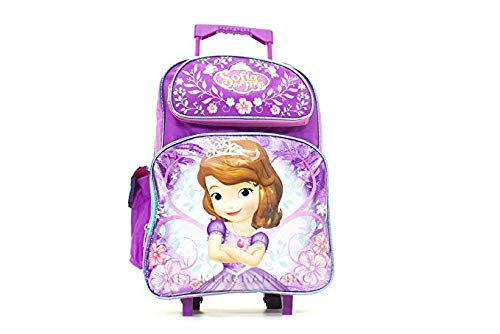 "16"" Inch Disney Sofia Rolling Backpack - backpacks4less.com"