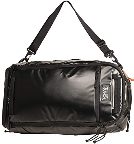 MYSTERY RANCH Mission Duffle Bag - Waterproof Luggage for Travel 55L Bag, TPU Black
