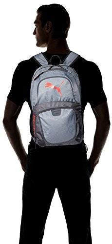 PUMA Men's Evercat Contender 3.0 Backpack, gray/coral, One Size - backpacks4less.com