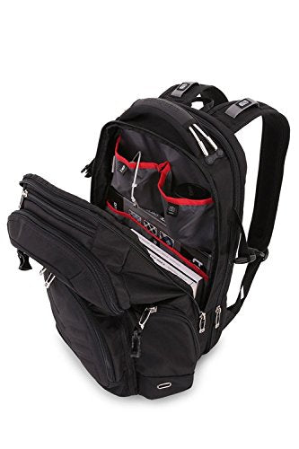 SwissGear 5709 ScanSmart Laptop Backpack. Abrasion-Resistant & Travel-Friendly School Work premium Laptop Backpack (Black Backpack) - backpacks4less.com