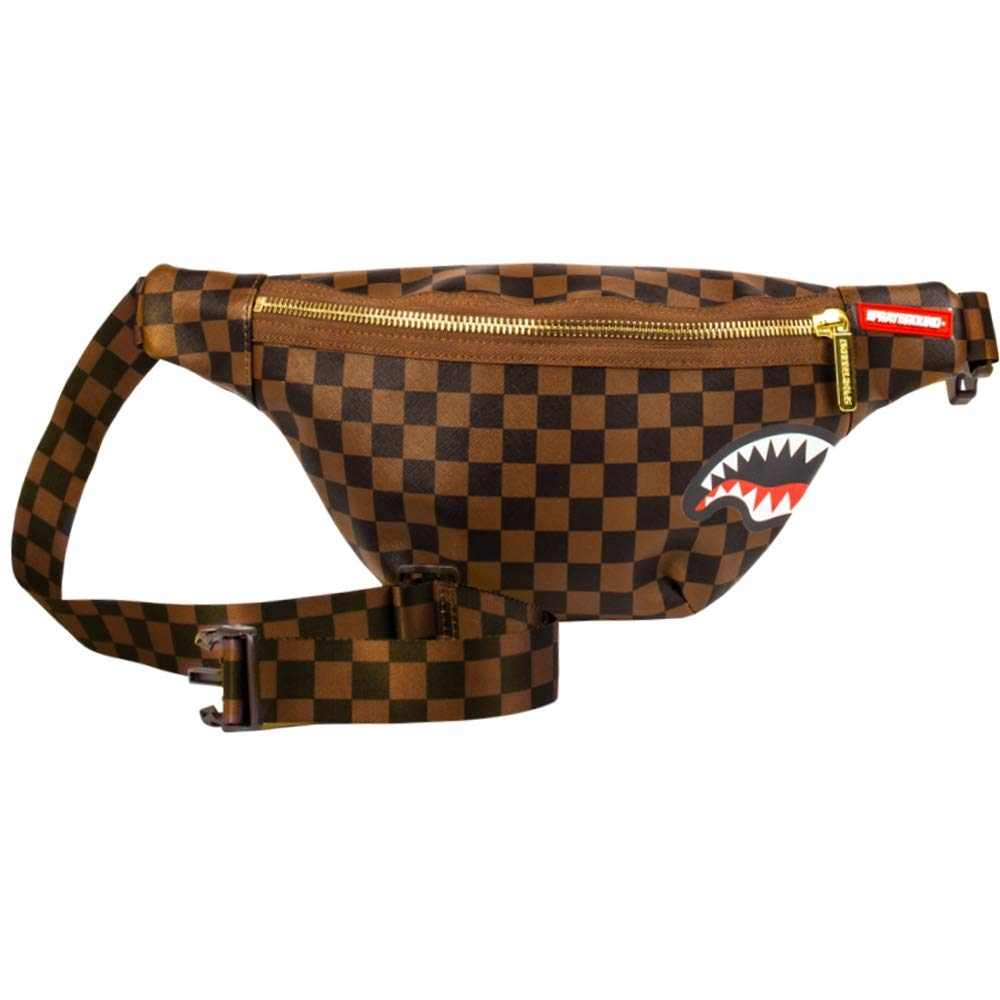 SPRAYGROUND | SHARKS IN PARIS CROSSBODY SHOULDER BAG BROWN | 910B1664NSZ - backpacks4less.com