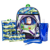 Toy Story Backpack Combo Set - Disney Pixar Toy Story Boys' 6 Piece Backpack Set - Woody & Buzz Lightyear Backpack & Lunch Kit (Black) - backpacks4less.com