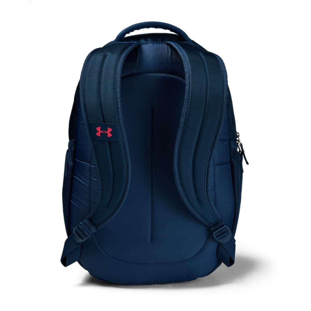 Under Armour Hustle 4.0 Backpack, Academy (410)/Watermelon, One Size Fits All - backpacks4less.com