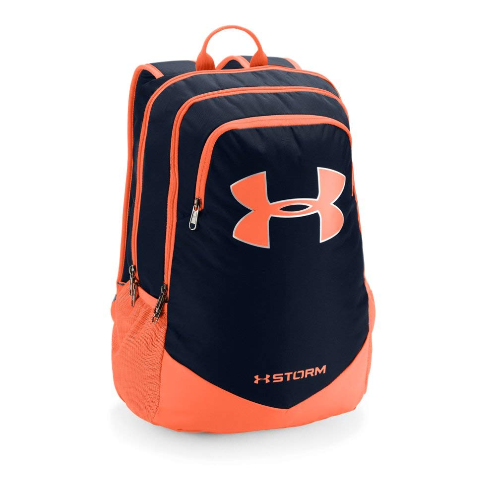 Under Armour Boy's Storm Scrimmage Backpack, Academy (409)/Magma Orange, One Size - backpacks4less.com