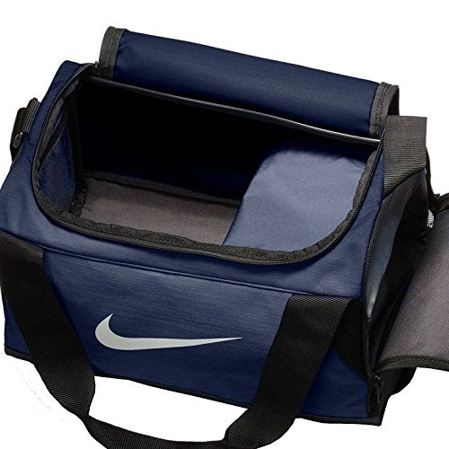 Nike Brasilia (Extra-Small) Duffel Bag NKBA5432 (Midnight Navy/Black/White) - backpacks4less.com