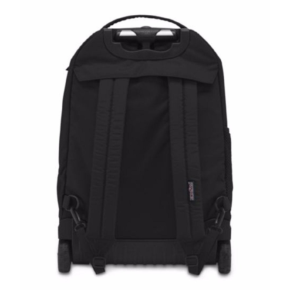 JanSport Driver 8 Core Series Wheeled Backpack (All Black) - backpacks4less.com