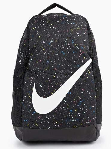 Nike Youth Nike Brasilia Backpack All Over Print Ho19, Black/Black/White, Misc - backpacks4less.com