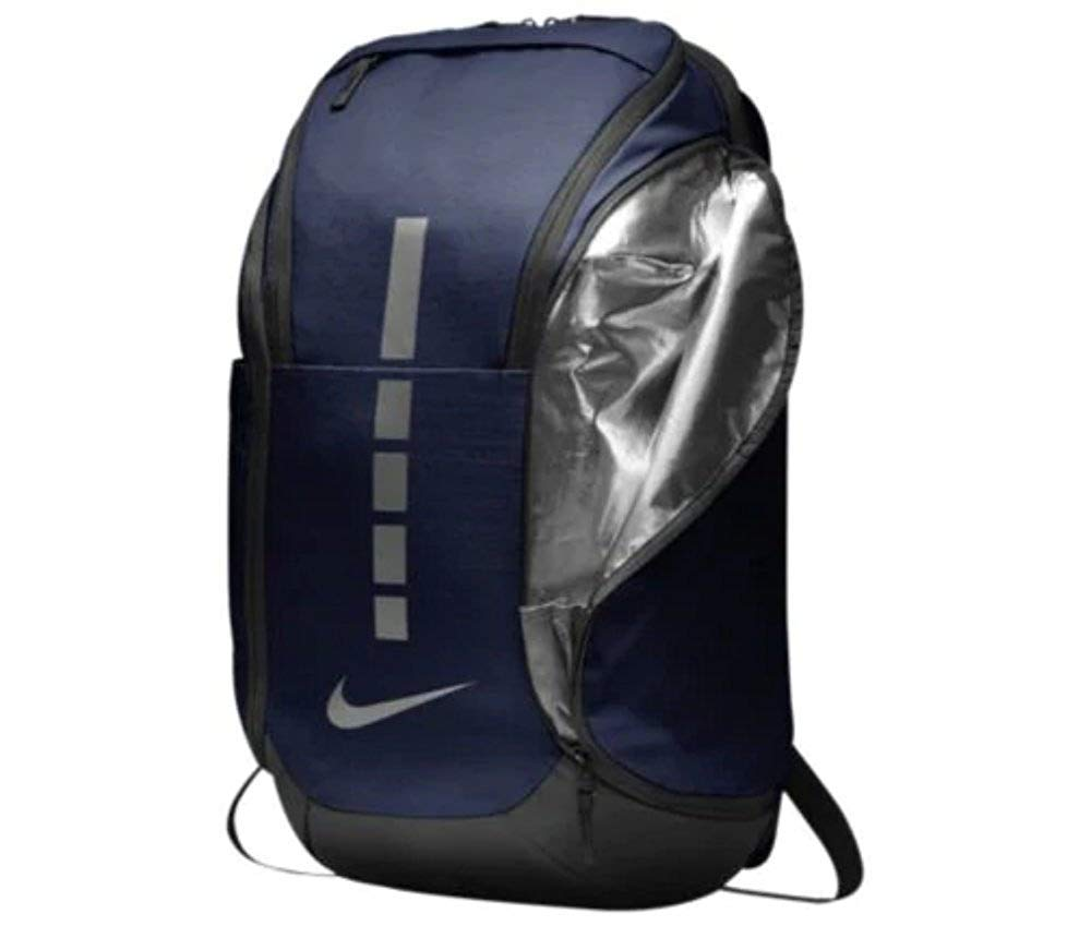 Nike Hoops Elite Pro Backpack MIDNIGHT NAVY/BLACK/MTLC COOL GREY - backpacks4less.com
