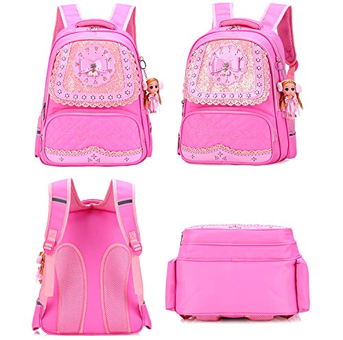 Meetbelify Big Kids School Backpack For Boys Kids Elementary School Bags Out Door Day Pack (purple bag) - backpacks4less.com