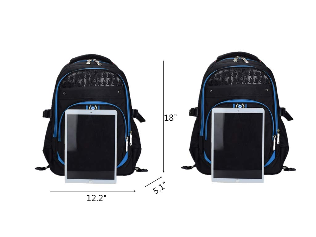 Meetbelify Kids Rolling Backpacks Luggage Six Wheels Unisex Trolley School Bags Blue - backpacks4less.com