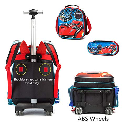 Meetbelify 3Pcs Rolling Backpack for Boys,School Backpack with Wheels for Boys - backpacks4less.com