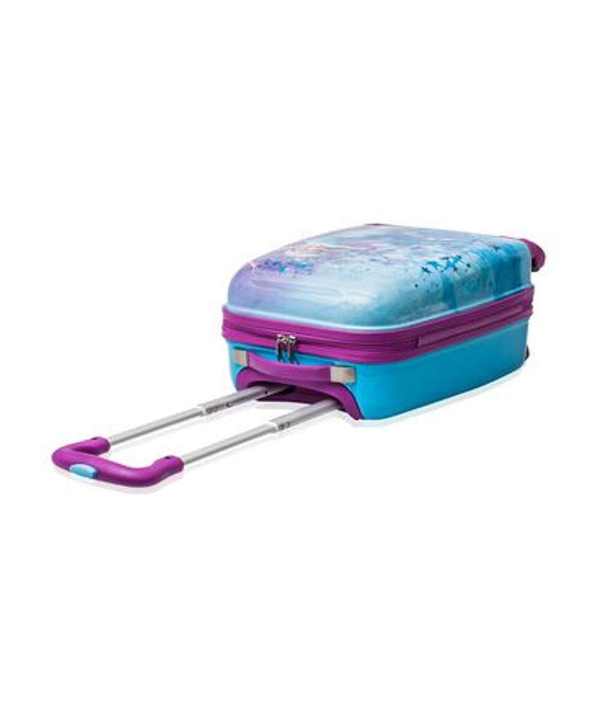 Disney Frozen Hard Side Spinner Trolley 18 Inch Luggage for Kids [Blue] - backpacks4less.com