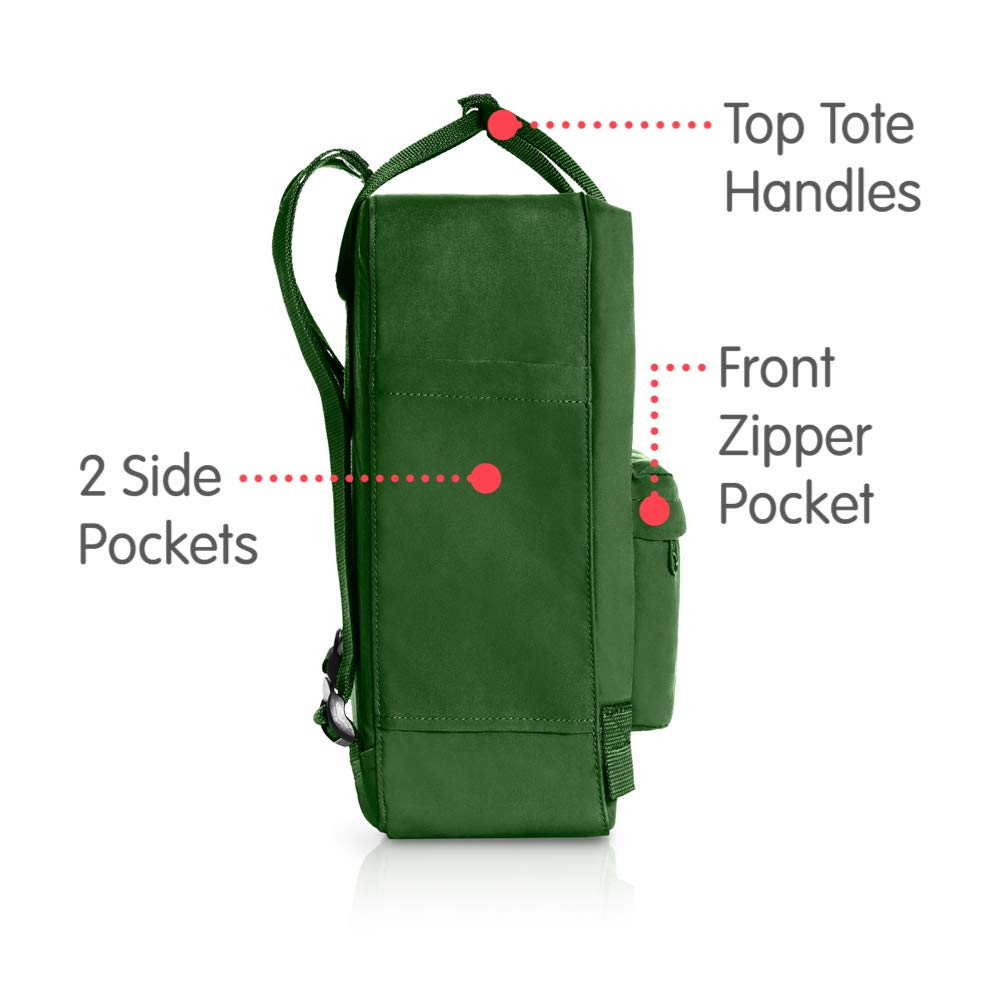 Fjallraven - Kanken Classic Backpack for Everyday, Leaf Green - backpacks4less.com