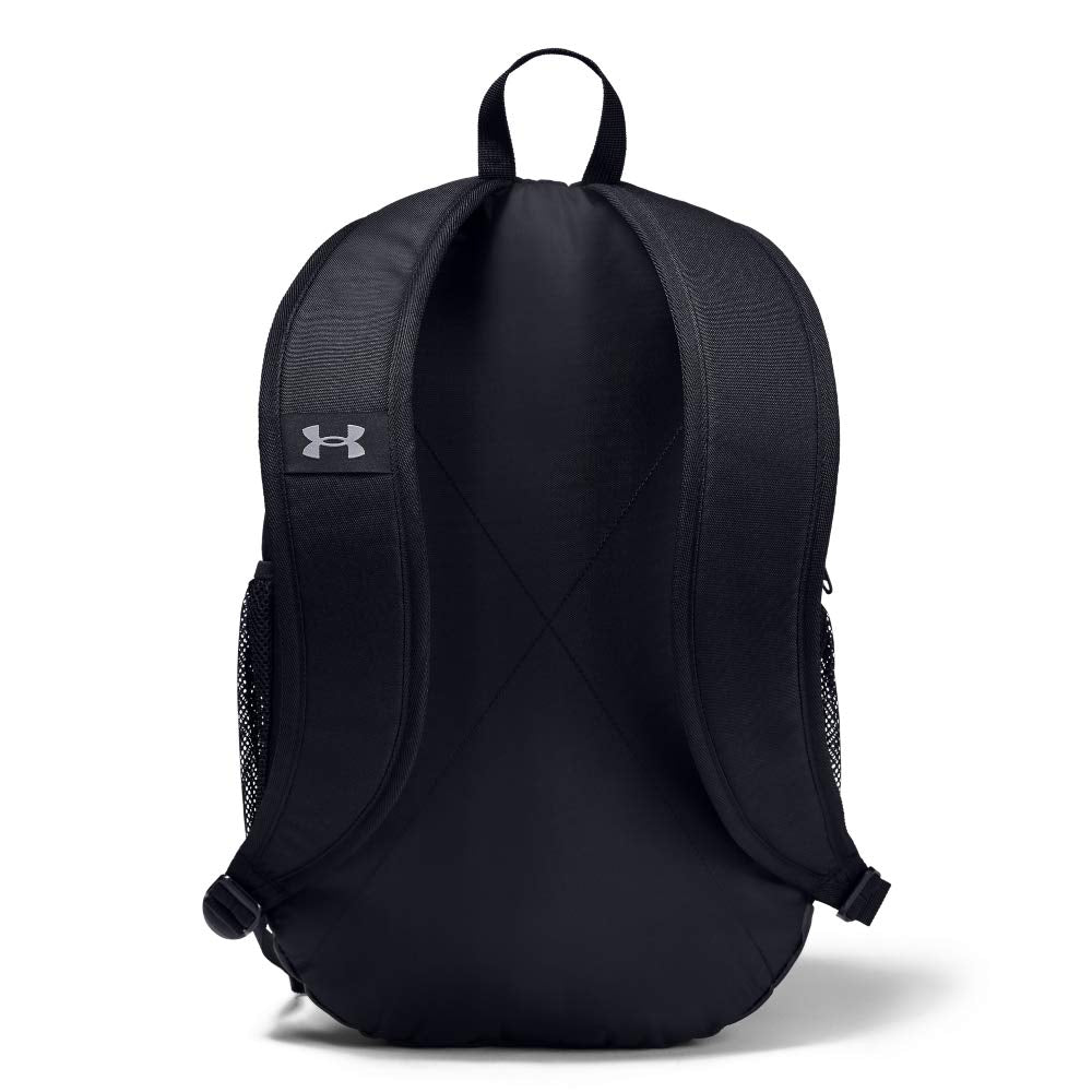 Under Armour Unisex Roland Backpack, Black (002)/Steel, One Size Fits All - backpacks4less.com