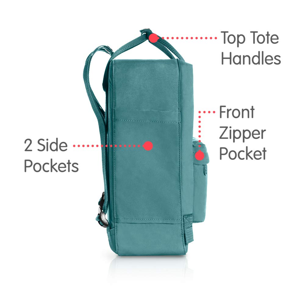 Fjallraven - Kanken Classic Backpack for Everyday, Frost Green - backpacks4less.com