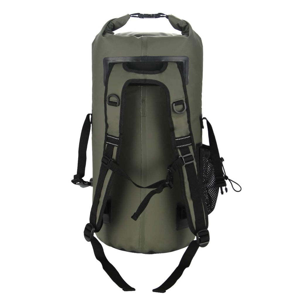 Buffalo Gear Portable Insulated Backpack Cooler Bag - Hands-Free and Collapsible, Waterproof and Soft-Sided Cooler Backpack for Hiking, Picnics,Camping, Fishing - Army Green,35 Liters,30 Can - backpacks4less.com