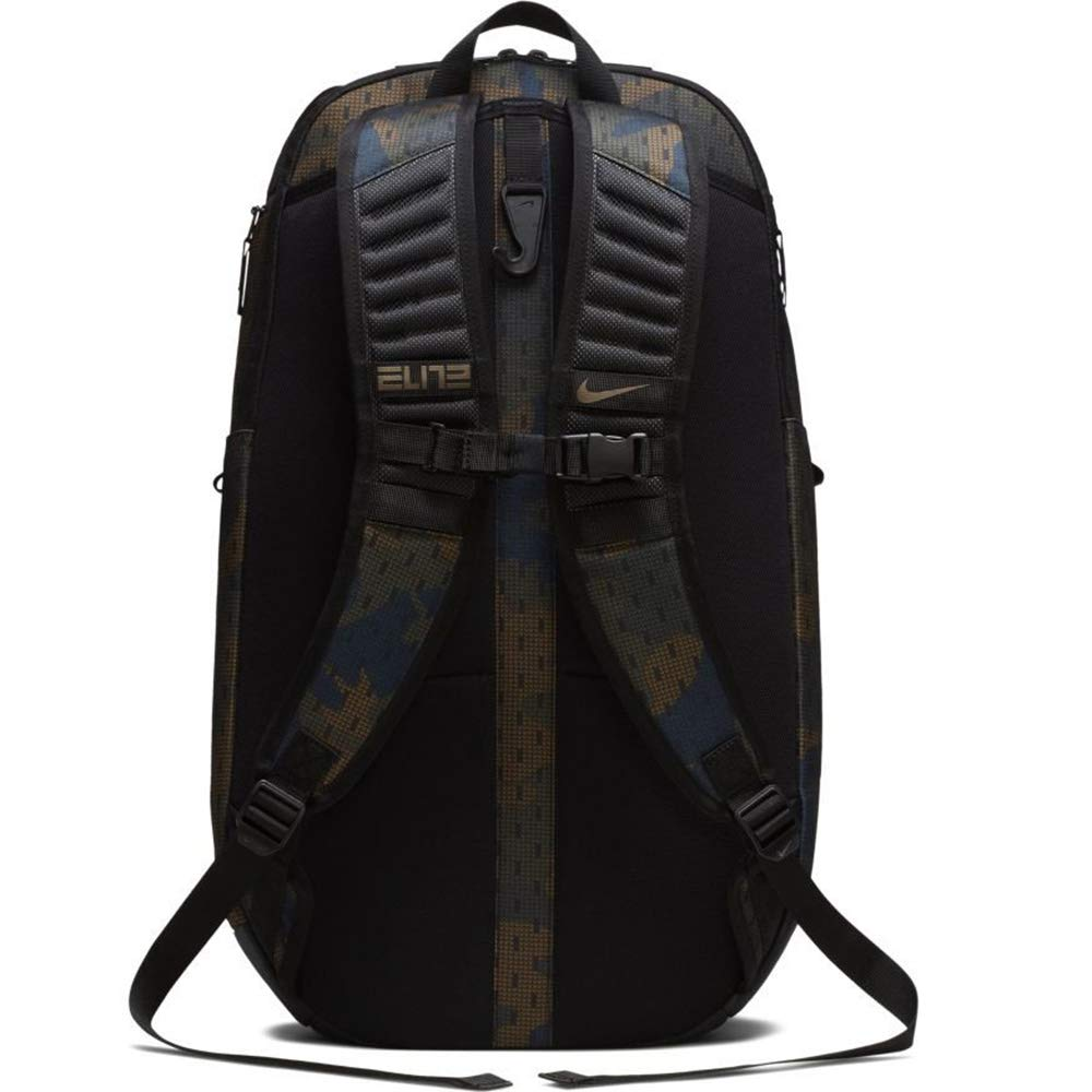Nike Hoops Elite Hoops Pro Basketball Camo Backpack Cargo Khaki/Black/Yukon Brown - backpacks4less.com