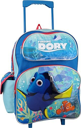 "Disney Pixar Finding Dory 16"" Large Rolling Backpack - backpacks4less.com"
