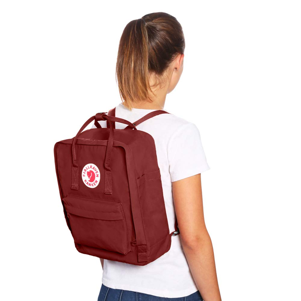 Fjallraven - Kanken Classic Backpack for Everyday, Black/Striped - backpacks4less.com