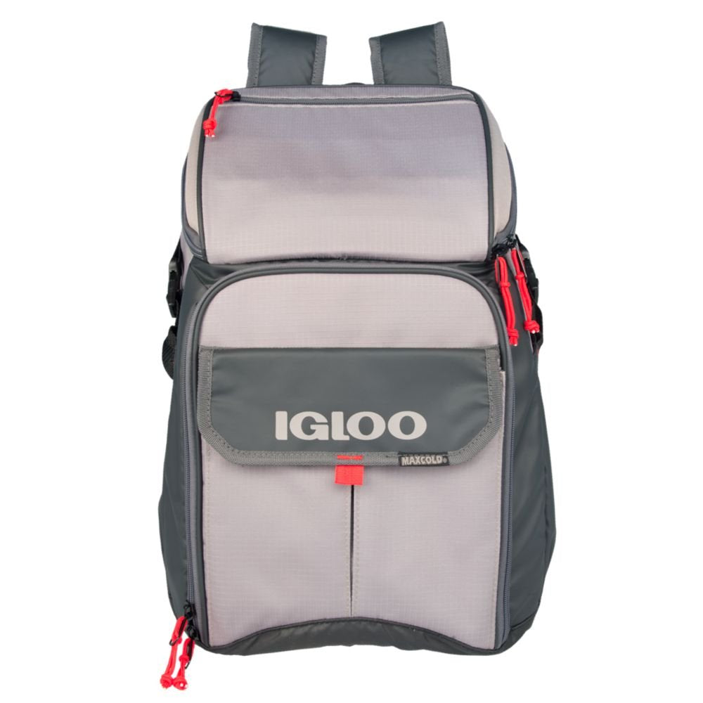 Igloo Outdoorsman Gizmo Backpack-Sandstone/Blaze Red - backpacks4less.com