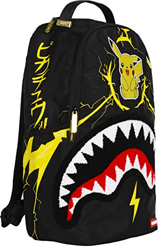 Sprayground - Unisex Adult Pikachu Shark Mouth Backpack, Size: O/S, Color: Multi - backpacks4less.com