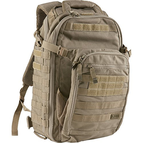 5.11 Tactical All Hazards Prime Backpack, 29 Liters Capacity, Laptop Compartment, Style 56997, Sandstone