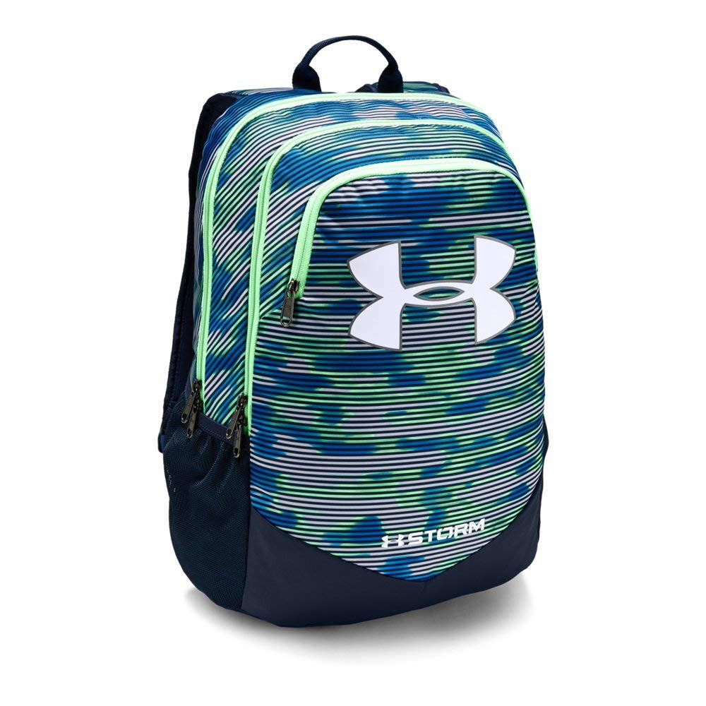 Under Armour Boy's Storm Scrimmage Backpack, Green Typhoon (375)/White, One Size - backpacks4less.com