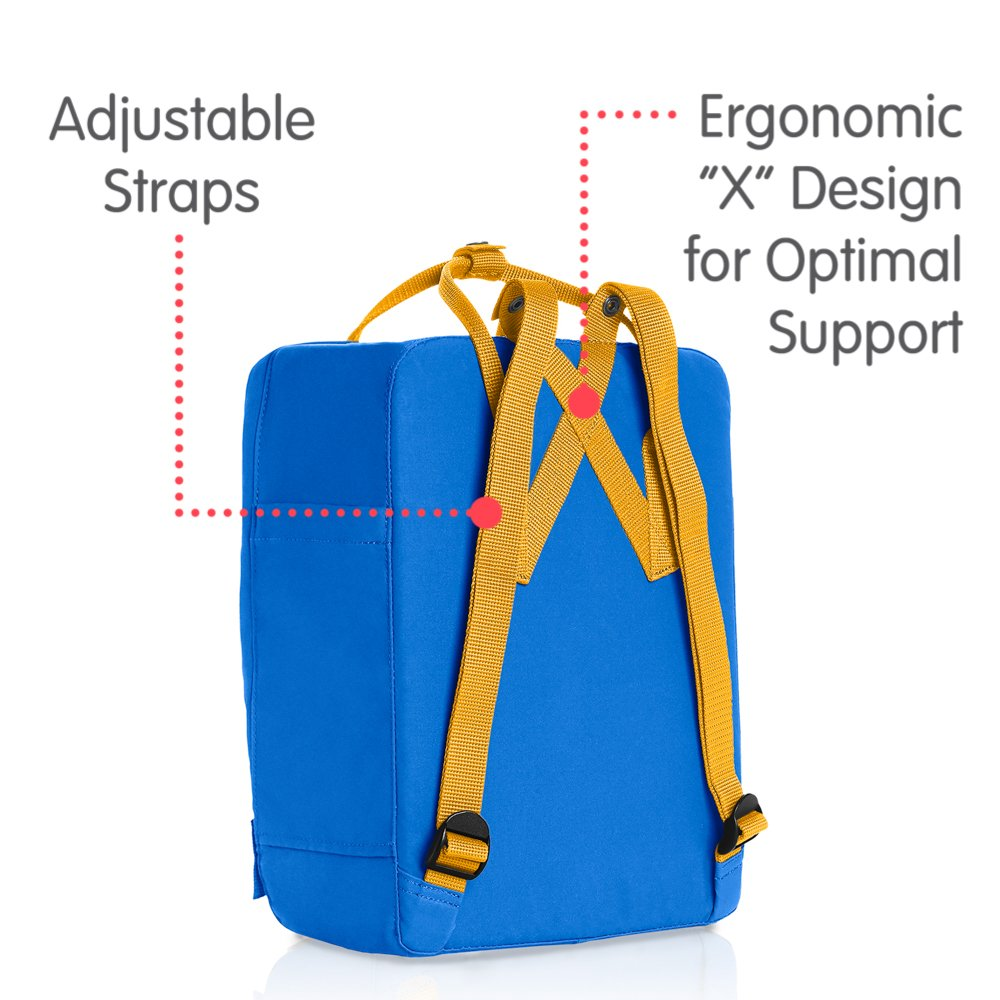Fjallraven - Kanken Classic Backpack for Everyday, UN Blue/Warm Yellow - backpacks4less.com