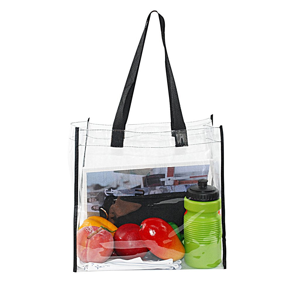 2-Pack Stadium Approved Clear Tote Bag, Stadium Security Travel Gym Clear - backpacks4less.com