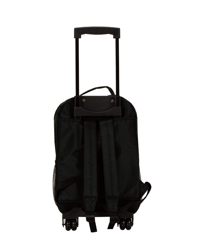 Rockland Luggage 17 Inch Rolling Backpack, Black, Medium - backpacks4less.com