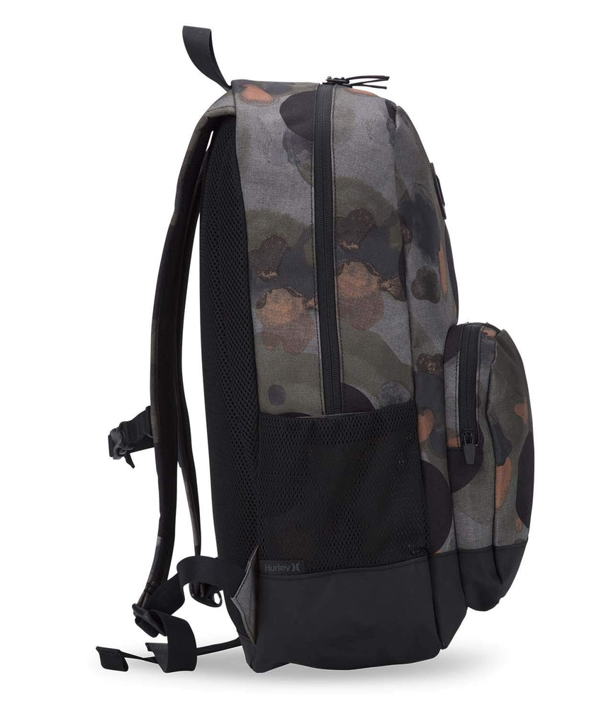 Hurley Men's Renegade Printed Laptop Backpack, faded olive, QTY - backpacks4less.com