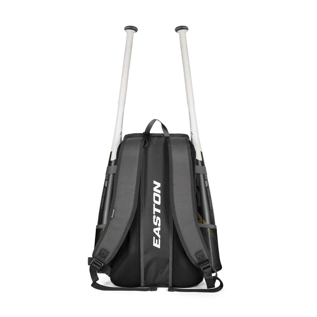 EASTON GAME READY Bat & Equipment Backpack Bag | Baseball Softball | 2020 | Maroon | 2 Bat Pockets | Vented Main Compartment | Vented Shoe Pocket | Zippered Valuables Pocket | Fence Hook - backpacks4less.com