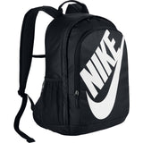 Nike Sportswear Hayward Futura Backpack for Men, Large Backpack with Durable Polyester Shell and Padded Shoulder Straps, Black/Black/White - backpacks4less.com