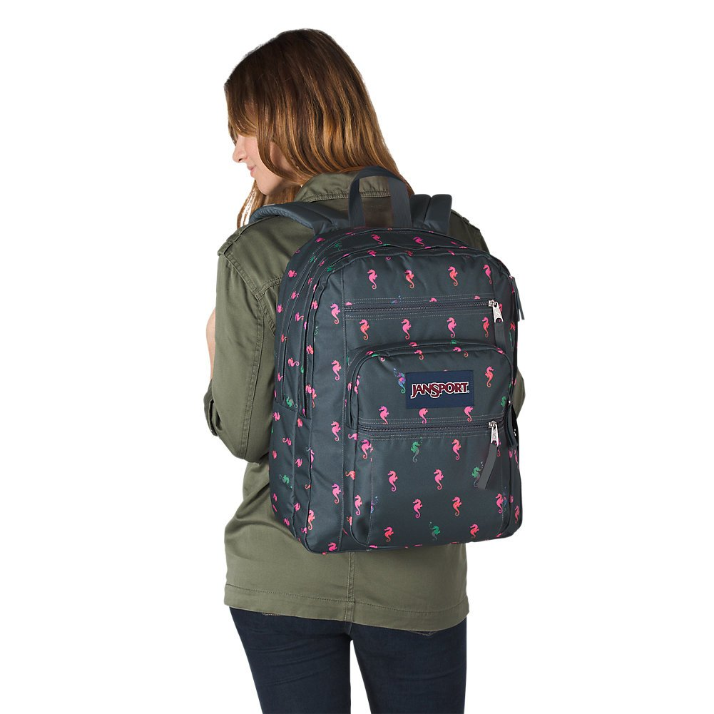 JanSport Big Student Backpack - Dark Slate Seahorse - Oversized - backpacks4less.com