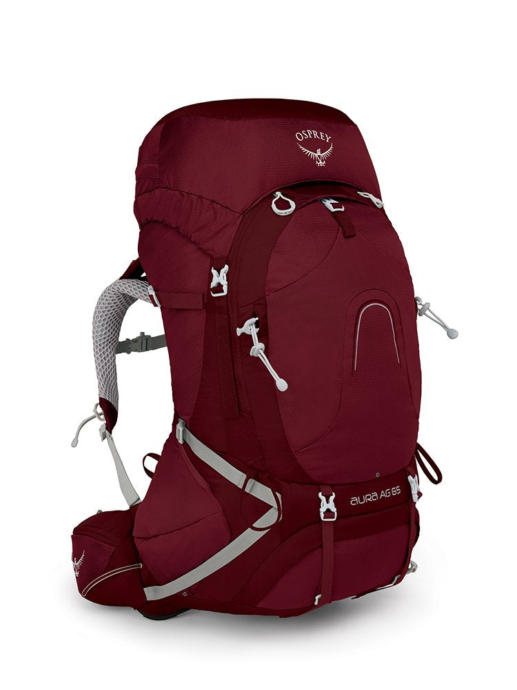 Osprey Packs Pack Aura Ag 65 Backpack, Gamma Red, X-Small - backpacks4less.com