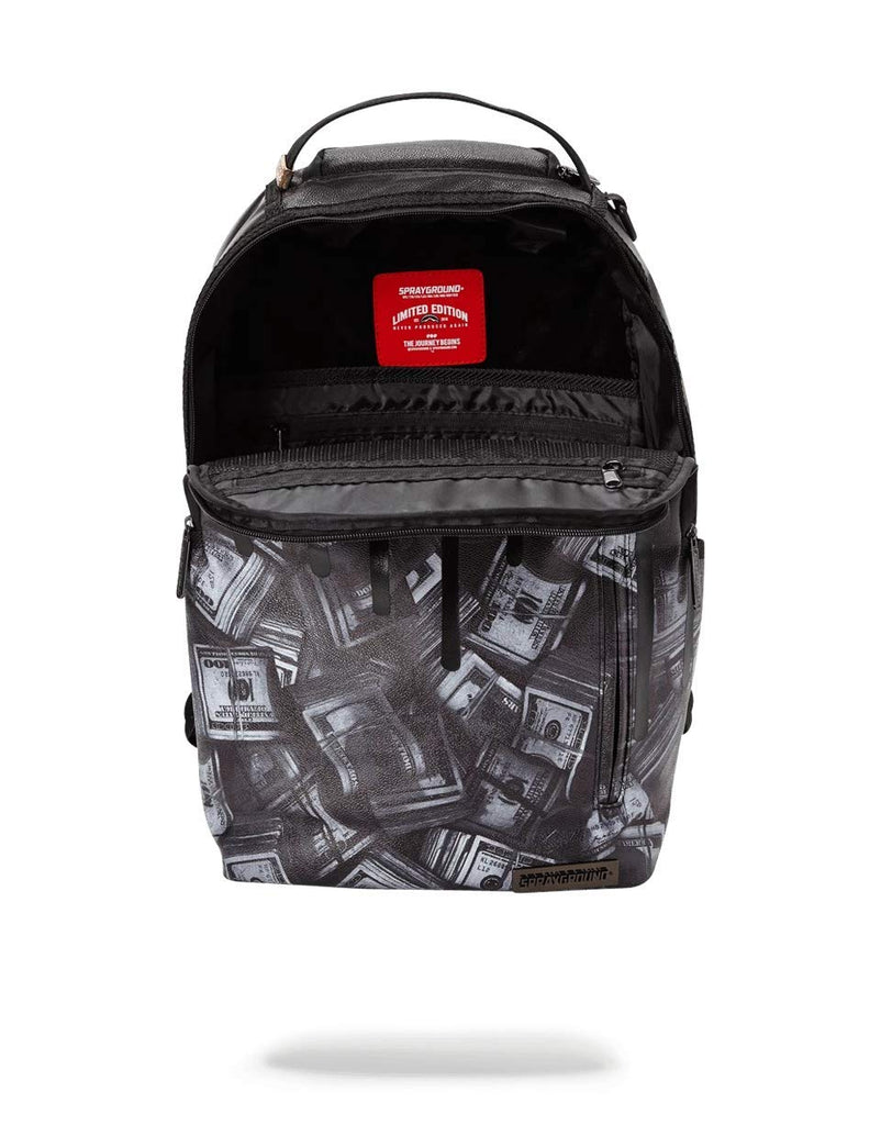SPRAYGROUND BACKPACK BLACKOUT MONEY DRIPS - backpacks4less.com